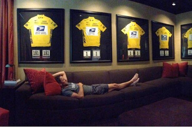 #LanceArmstrong is a cheat, but this is still one of my fav images! #TDF #YellowJersey #Cycling