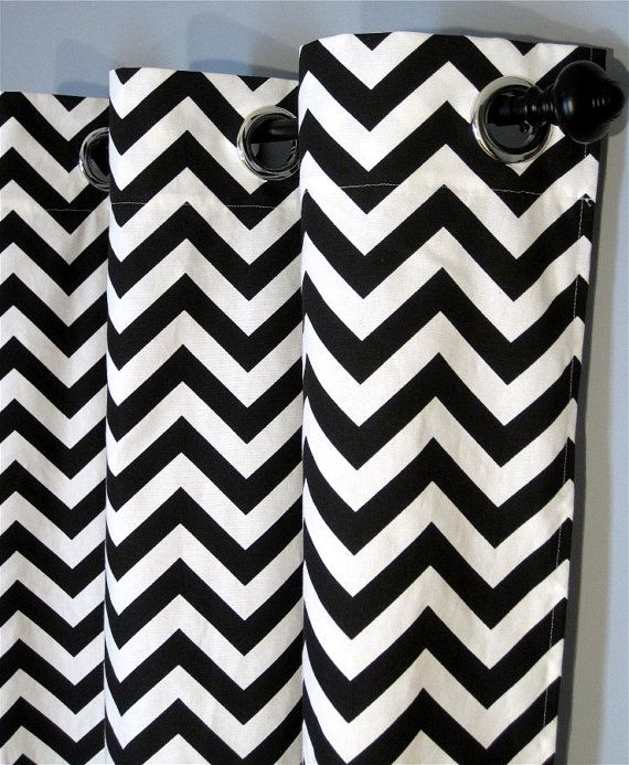 Black chevron curtains - Black Chevron Curtains Badezimmer Pinterest Chevron Curtains