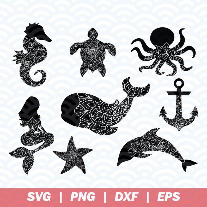 Seahorse Clipart Sea Animal T-Shirt Iron On Transparent PNG DXF Seahorse SVG Cut File Nautical Printable Wall Art Jpeg