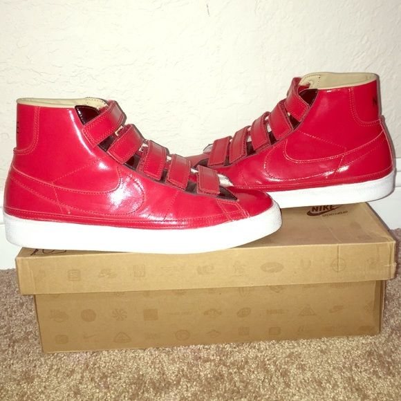 new concept 0cbb4 837ff Nike Blazer AC High LE Red patent leather Blazers in used but excellent  condition size 10 Nike Shoes Athletic Shoes