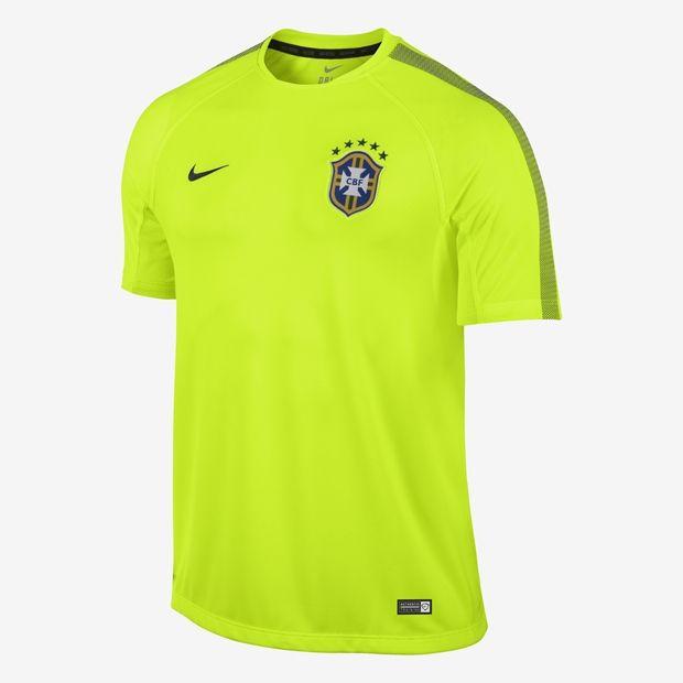 Camiseta Manga Curta CBF Pré Jogo Squad SS  88f9ad7b0d178