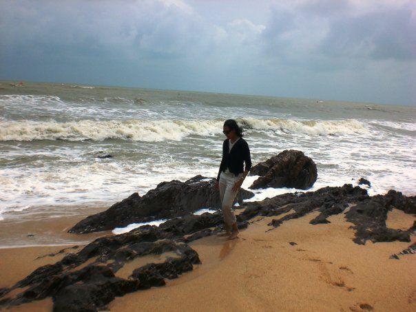 Stormy seas at Desaru, Johor