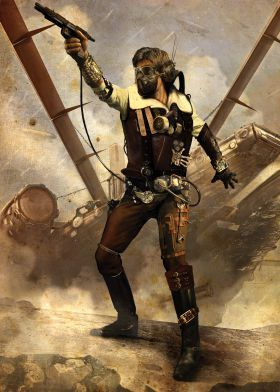 steel canvas Movies & TV space fantasy steam punk smuggler