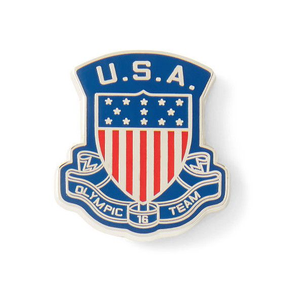 Polo Ralph Lauren Team Usa Shield Small Pin ($15) ❤ liked on Polyvore  featuring