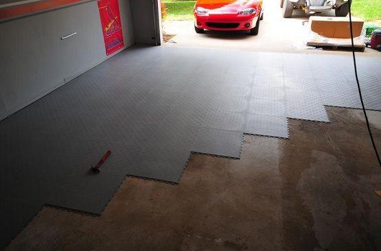 Black Rubber Interlocking Garage Floor Tiles Flooring Ideas Design Trends