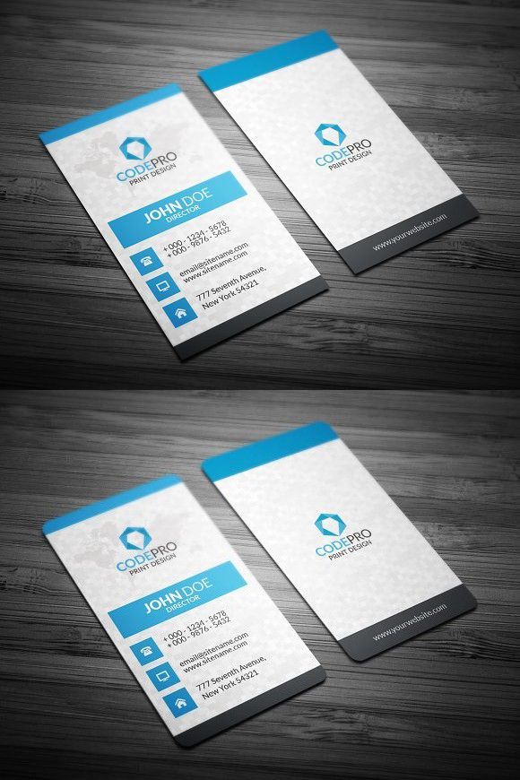 Creative Vertical Business Cards Business Cards Creative