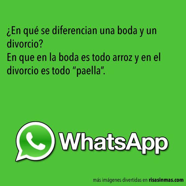 Chistes Whatsapp Boda Y Divorcio Chistes Whatsapp