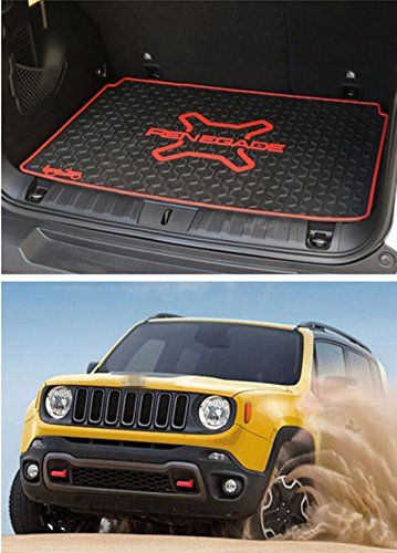 Fmtoppeak Red 3d Carpet Rubber Leather Floor Cargo Trunk Liner Tray Mat Pad For 2014 Up Jeep Renegade Read More At The Image Jeep Renegade Trunk Liner Jeep