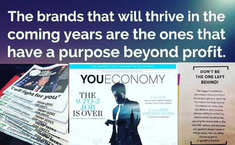 20 months ago I heard about this new company called #LeVel and this weekend it was featured as 1 of 5 companies that are changing the way you can earn an income. Along with #uber and #etsy and 2 others.... By 2020, 50% of the population will become a part of the #youeconomy   I love that I am completely #FREE to make my own schedule and earn an income on my own terms. I get rewarded for #helpingothers do the same!!  feelfantasticnow.com