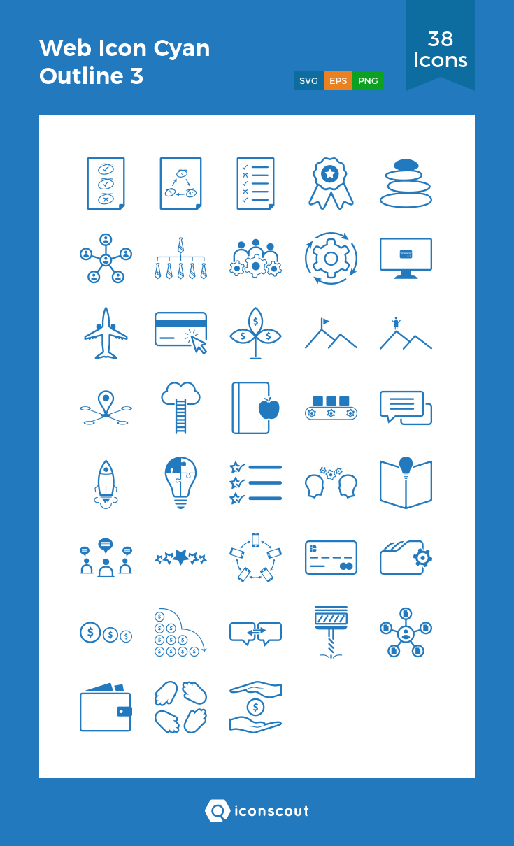 Download Web Icon Cyan Outline 3 Icon Pack Available In Svg Png Eps Ai Icon Fonts Web Icons Icon Pack Line Icon