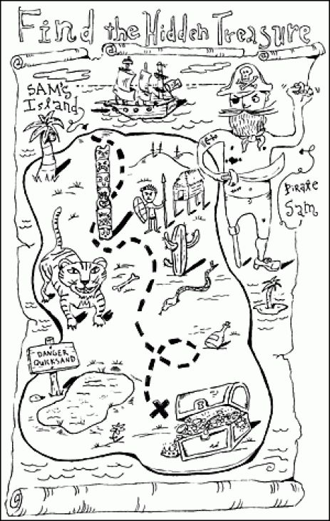 treasure map coloring pages # 10