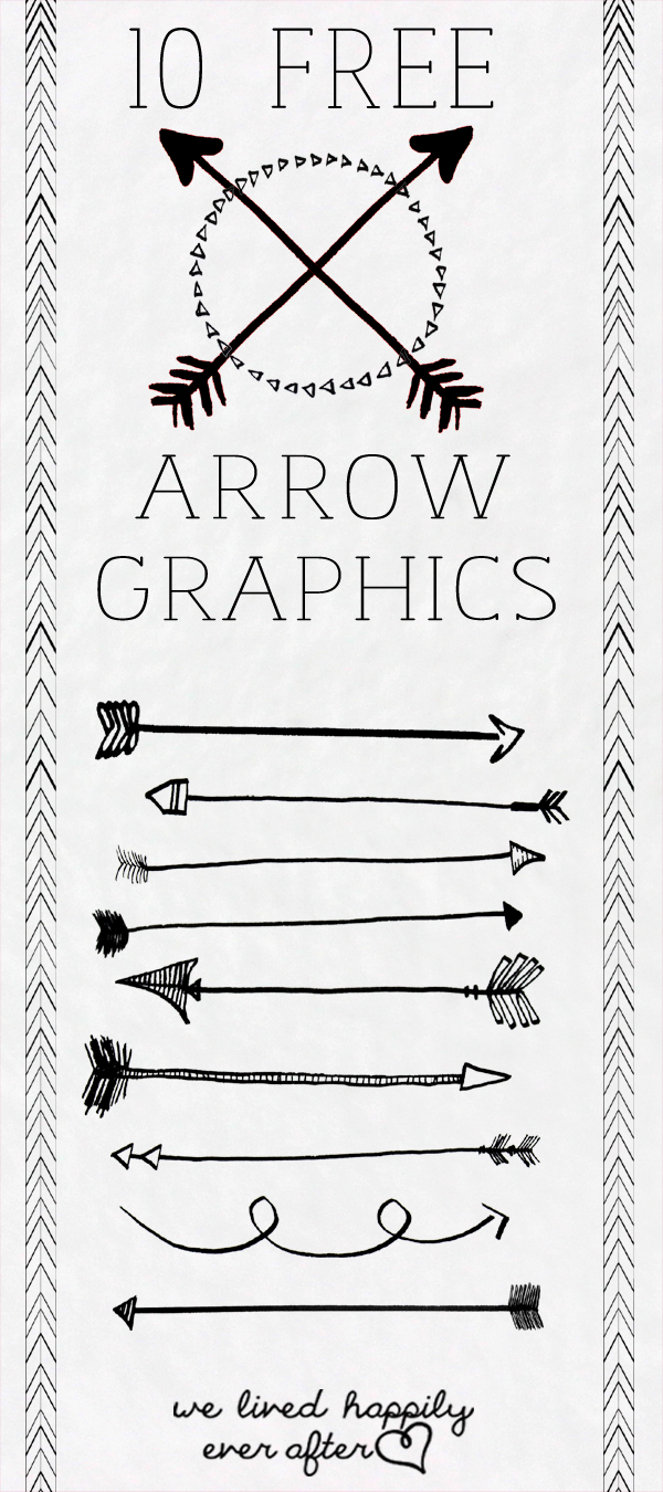 10 Free Arrow Png Graphics We Lived Happily Ever After Png Graphics Lettering Graphic