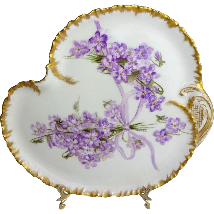 Antique French Haviland Limoges Tray with Hand Painted Lilacs Signed --- found in the · Decorative PlatesHoliday ...  sc 1 st  Pinterest & Antique French Haviland Limoges Tray with Hand Painted Lilacs Signed ...