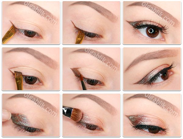 How fast to draw two-color arrows liquid eyeliner?