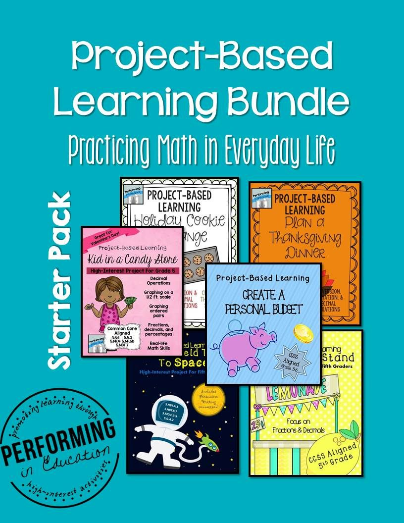 5th Project Based Learning Math Starter Pack Bundle | Inquiry based ...