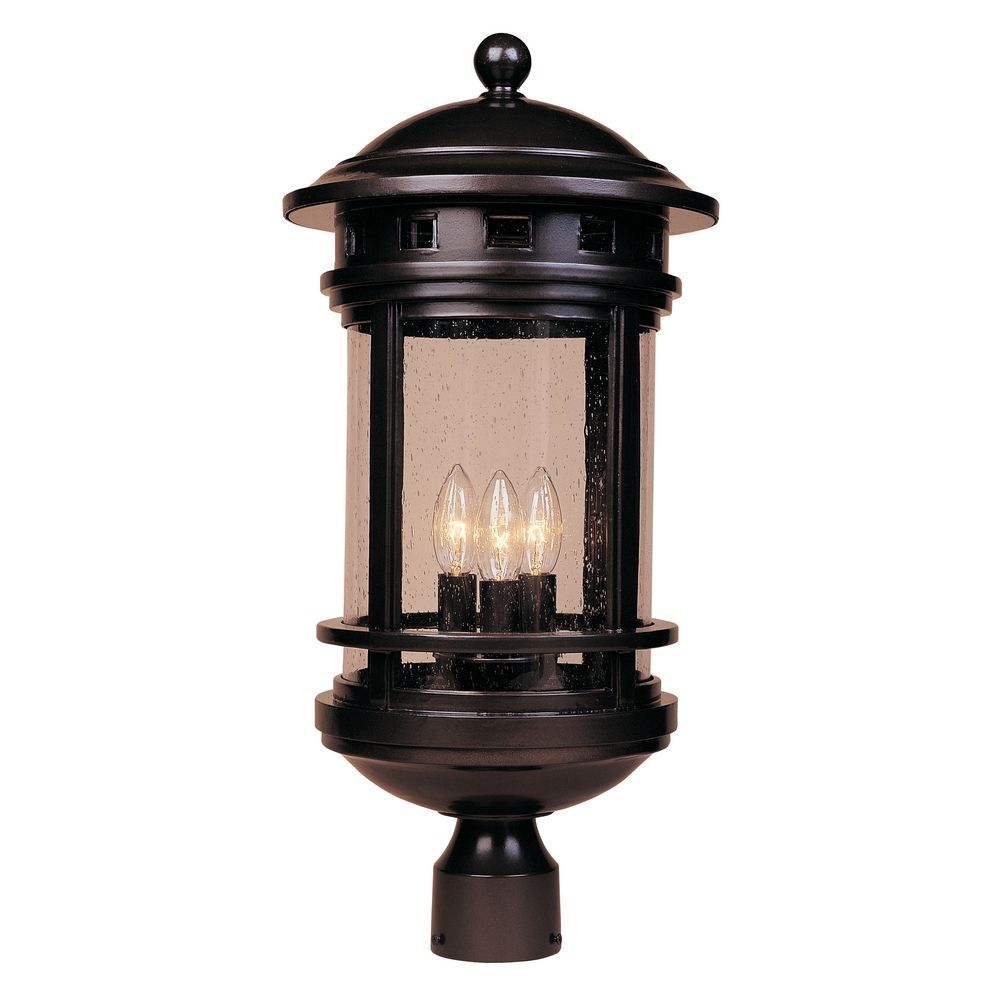 Designers Fountain Lighting Seeded Glass Post Light Oil Rubbed Bronze Designers Fountain