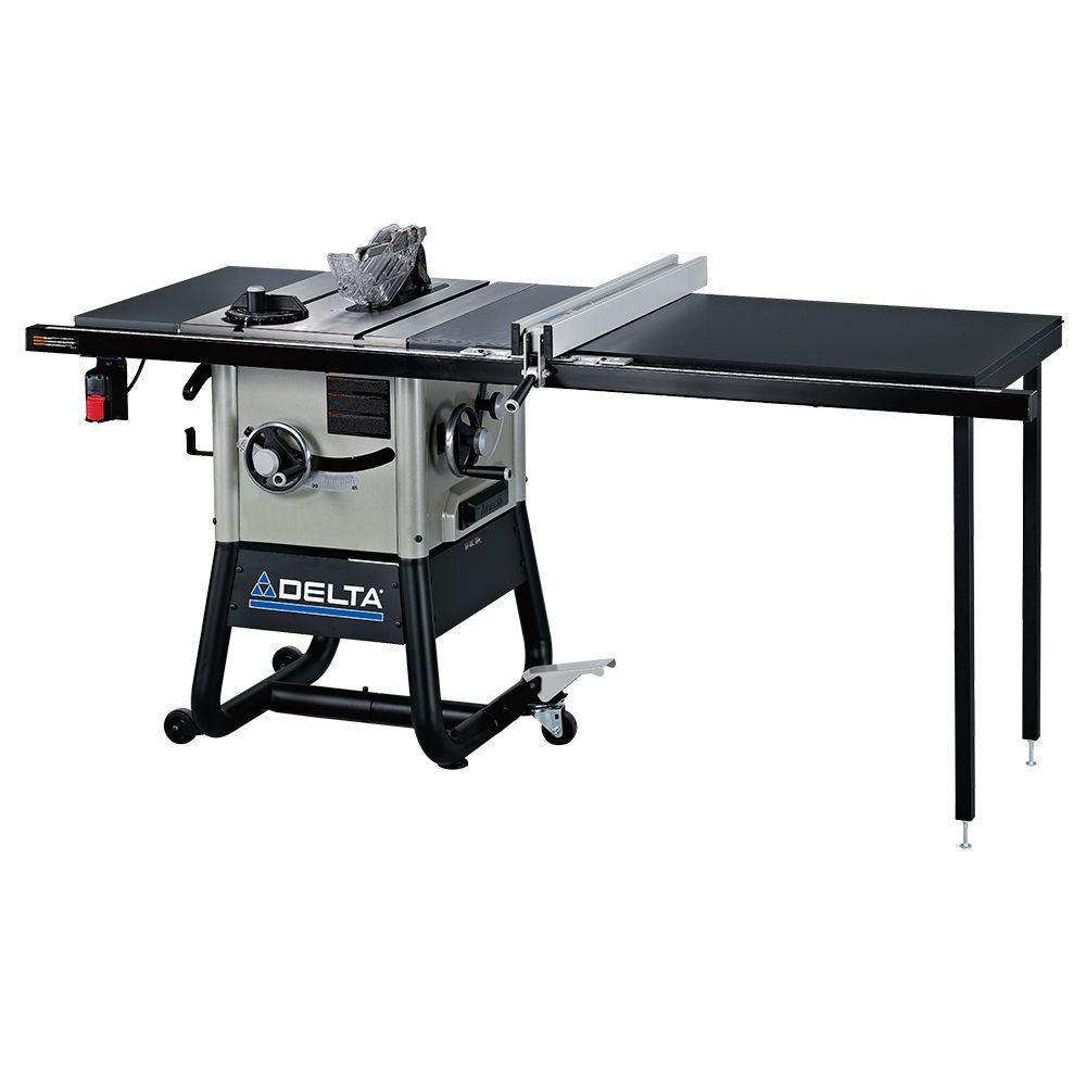Delta 15 Amp 10 In Left Tilt 52 In Contractor Table Saw With Steel Wings 36 5052 The Home Depot Contractor Table Saw Portable Table Saw Table Saw
