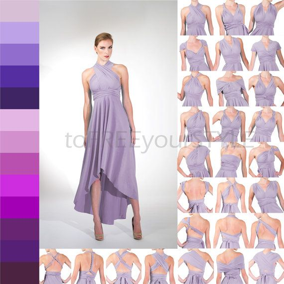 HIGH-LOW infinity dress in PURPLES, Free-Style Dress, infinity wrap ...