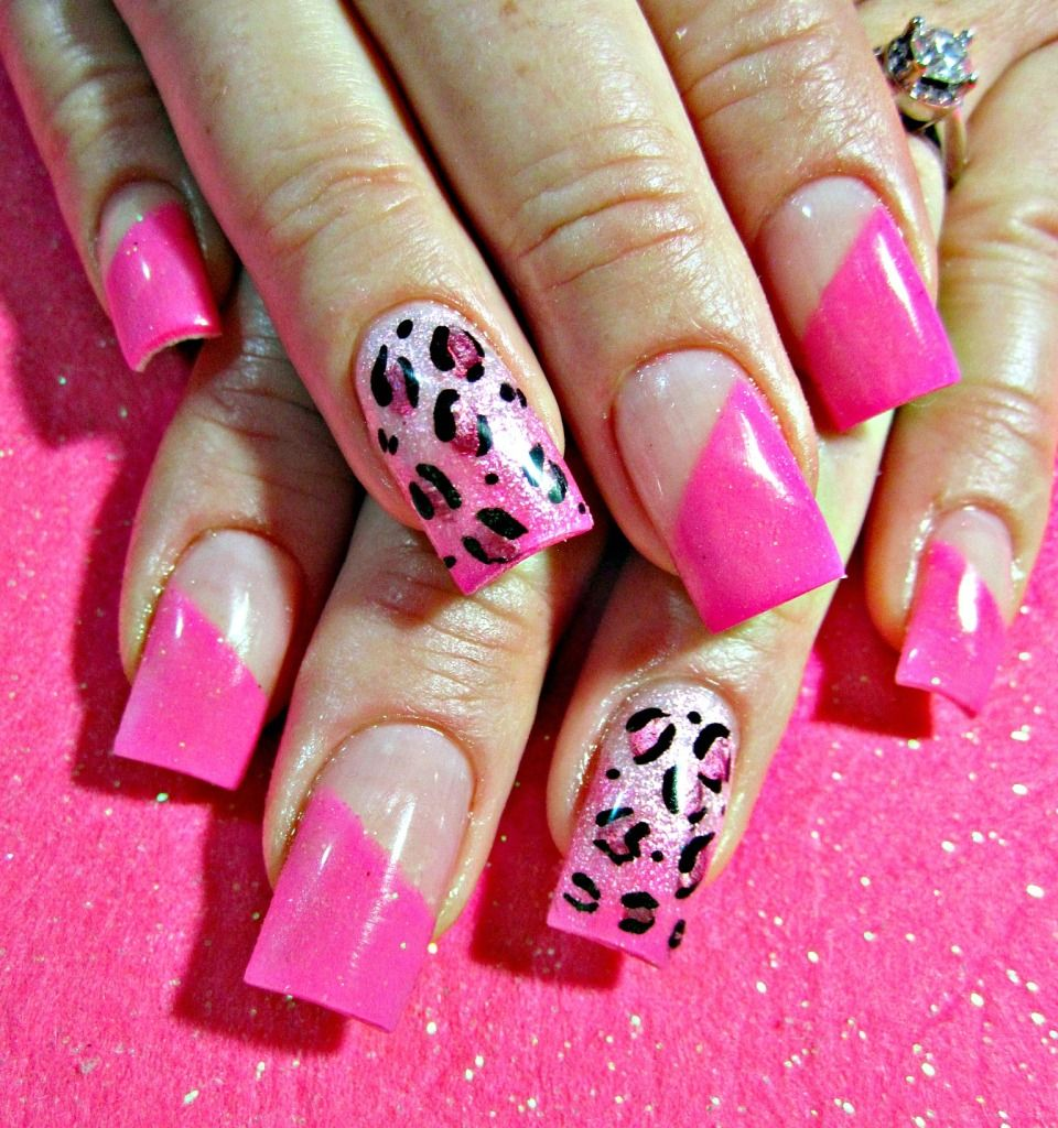 cute cheetah nail designs tumblr acrylic nails designs 2015