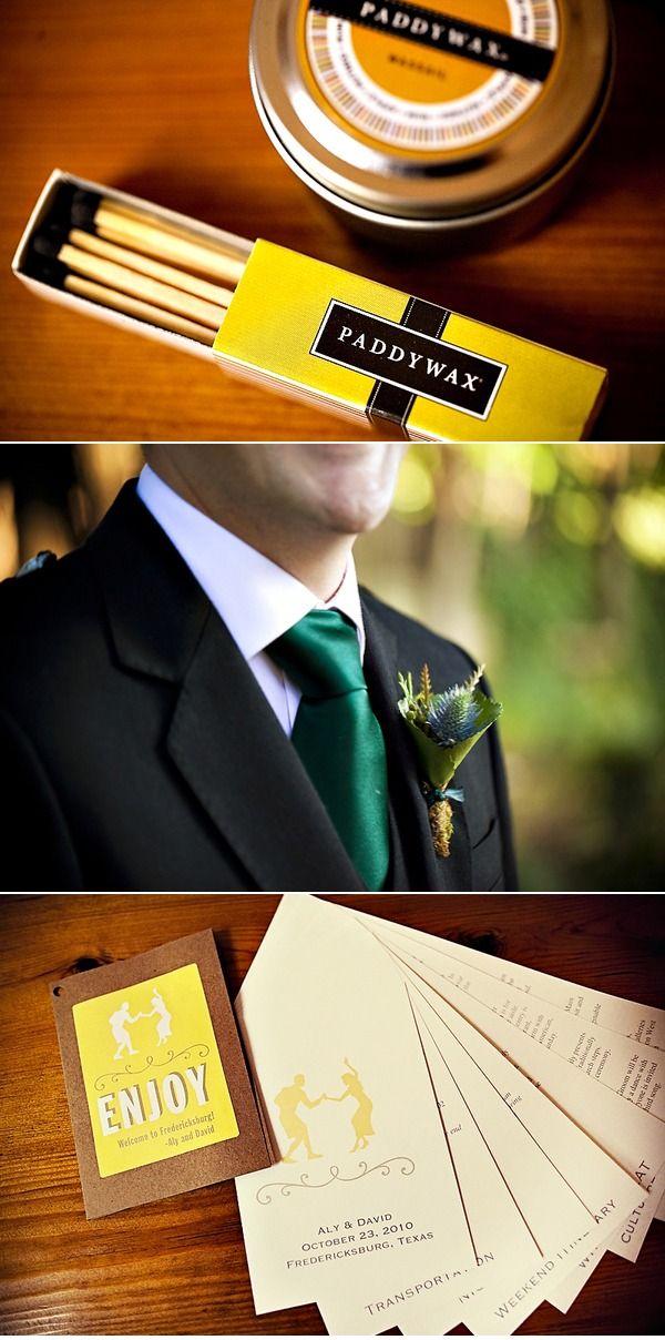 Matching wedding stationery. Awesome fan-out program.