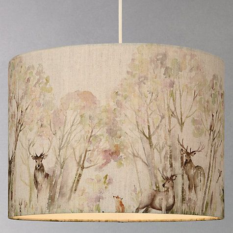 Buy Voyage Enchanted Forest Lampshade John Lewis Lamp Shade Ceiling Lamps Bedroom Lamp