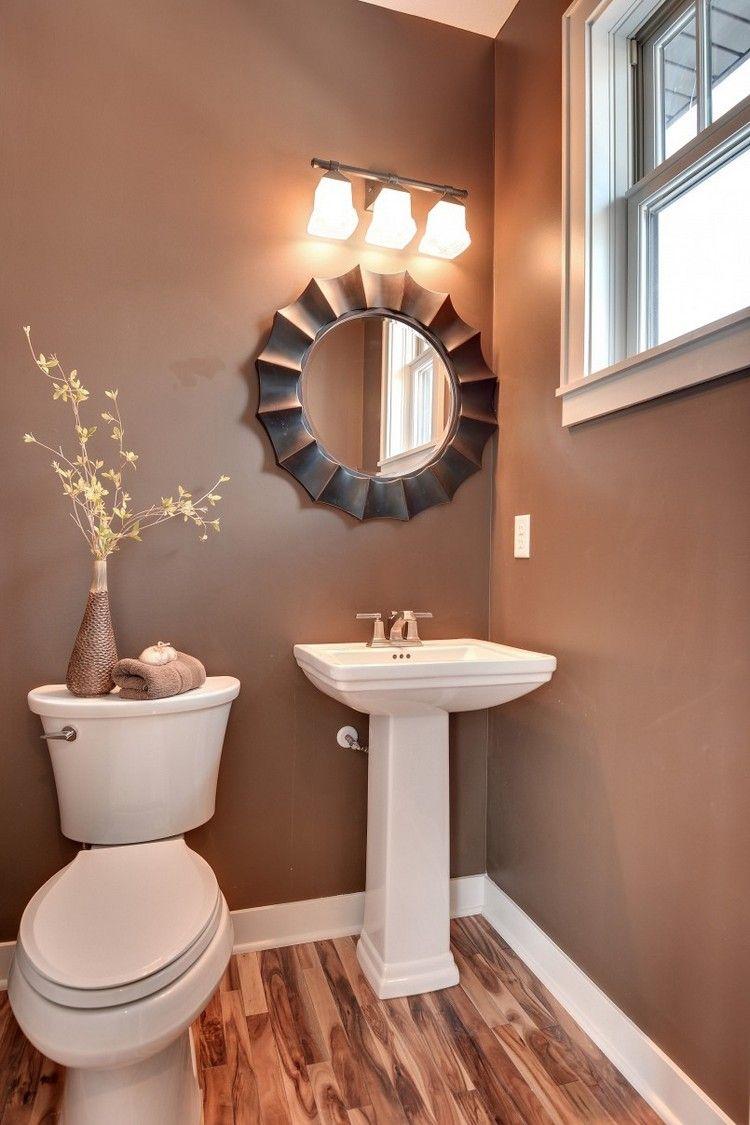 Perfekt Elegantes Bad Mit Braunen Wänden