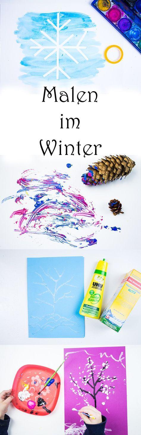 6 Ideen zum Malen im Winter mit Kindern +Video — Mama Kreativ