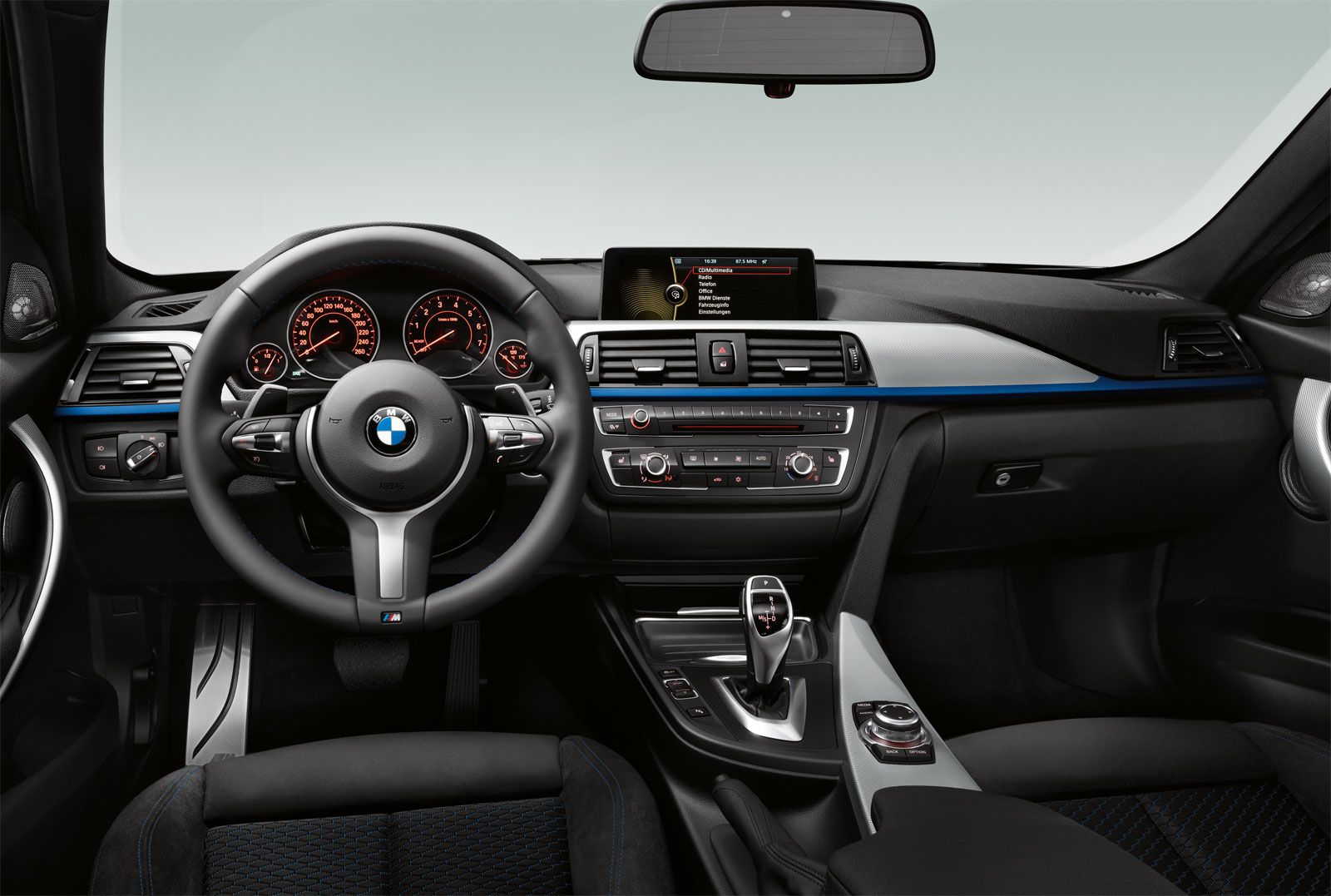 The interior of the 2012 335i Sedan with the M Sport package.