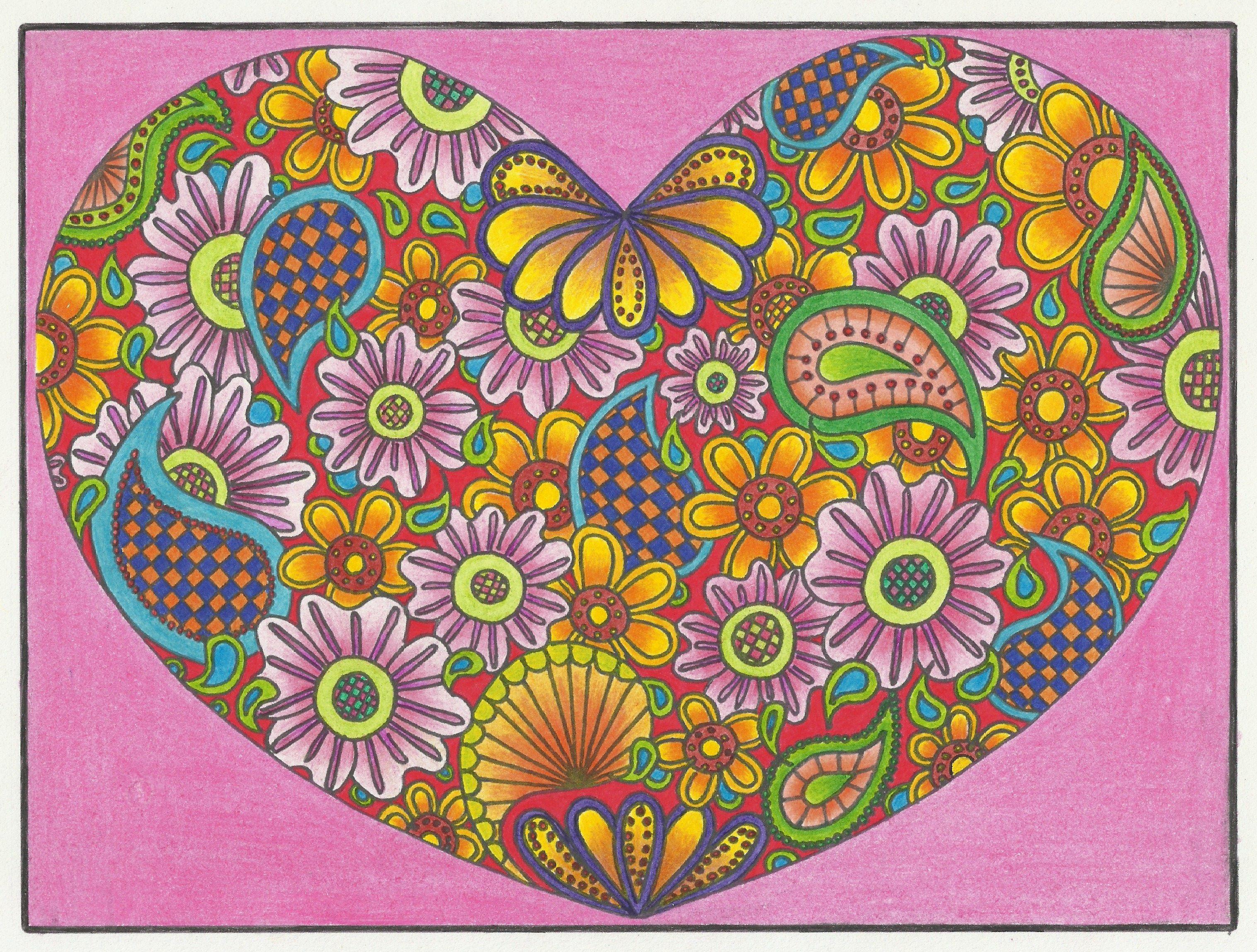 Zendoodle coloring enchanting gardens - Colour Pencils