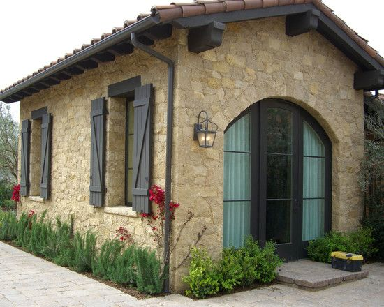 Entry by select stone inc for Spanish style shutters