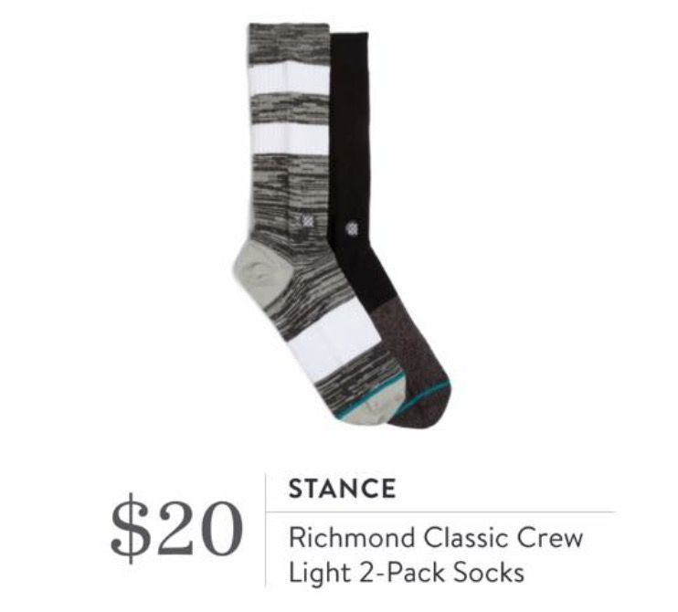 Stitch Fix for Men September 2016 - Stance, Richmond Classic Crew