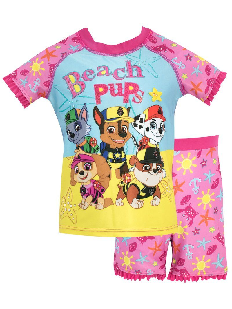 Marshall and Rubble Pajama Set Paw Patrol Girls Size 4T Pup Power Skye