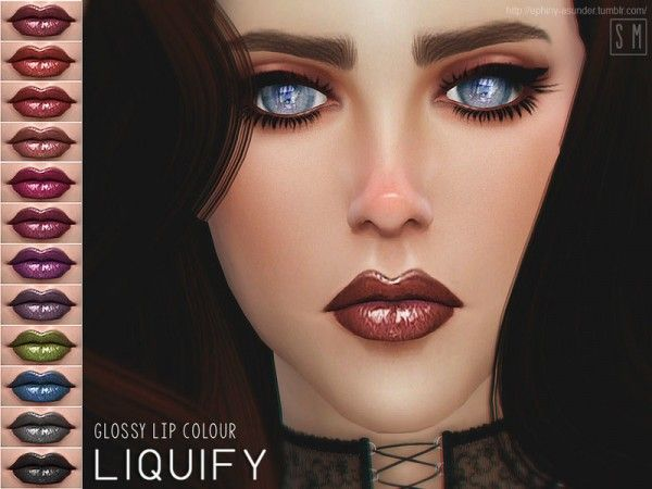 The Sims Resource: Liquify - Glossy Lip Colour by Screaming Mustard • Sims 4 Downloads
