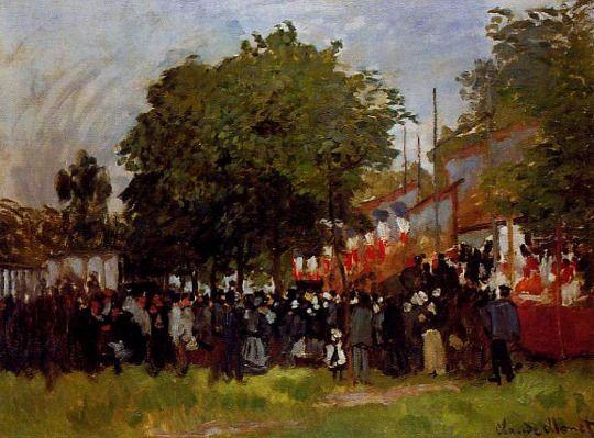 Impressionismo. Festival en Argenteuil de Claude Monet