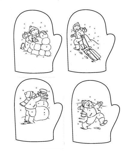 Eldiven Kis Winter Winter Season Ve Printables