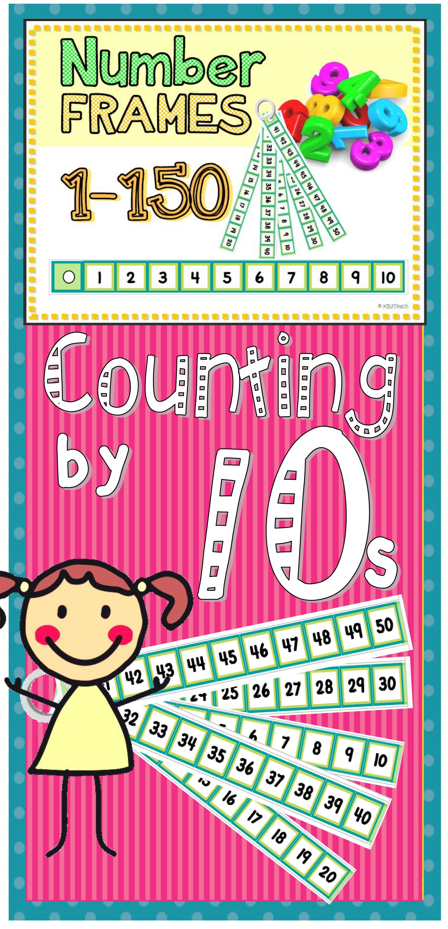 Number Frames Counting By Tens 1 150