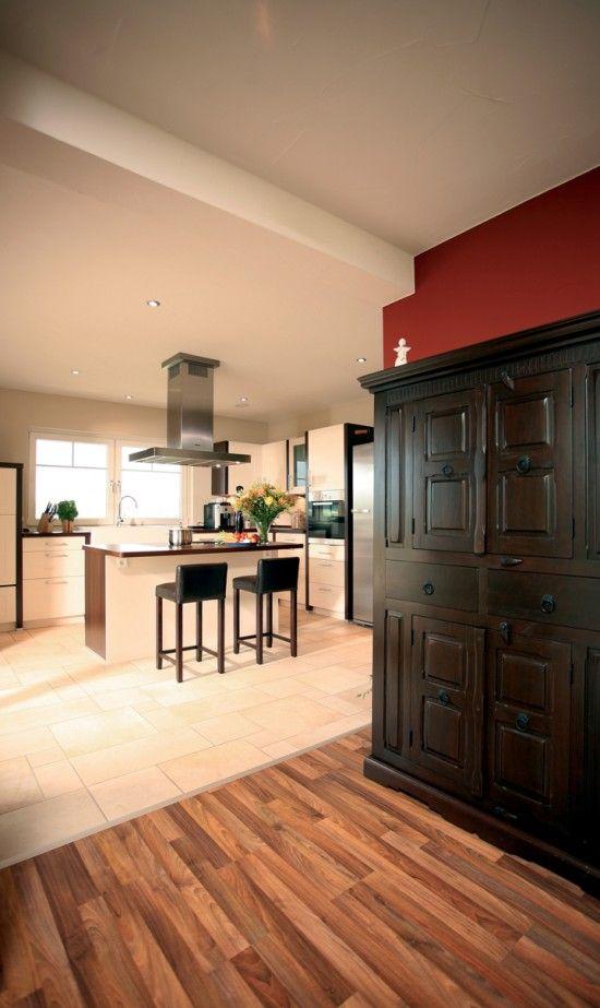 fertighausnet - Wohnideen - Küche und Essplatz Toskana New - Parkett In Der Küche