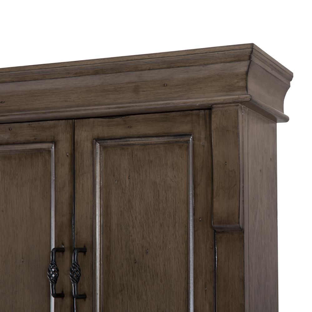 Home Decorators Collection Naples 26 3 4 In W Bathroom Storage Wall Cabinet In Distressed Grey Nadgo2 Bathroom Storage Wall Cabinet Home Decorators Collection