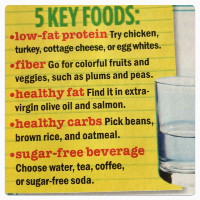 5 key foods for eating healthy