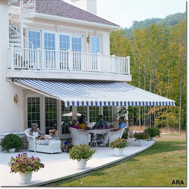 Google Image Result For Http Mylifeonthedeck Com Wp Content Uploads 2007 08 Retractable Deck Awning Jpg Outdoor Awnings Backyard Patio Deck Awnings