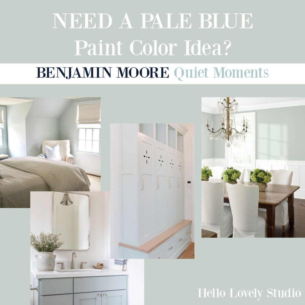 Quiet Moments Paint Color: Is This Pale Blue Calling? - Hello Lovely