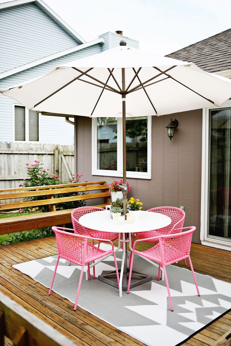 Laura S Outdoor Space Before After A Beautiful Mess Home Patio Chairs Outdoor Patio Furniture