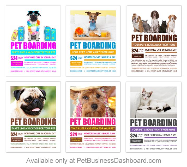 Pet Boarding Flyer Templates Bundle 11 Pet Boarding Pet