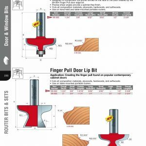 Finger Pull Routing On Kitchen Cabinets