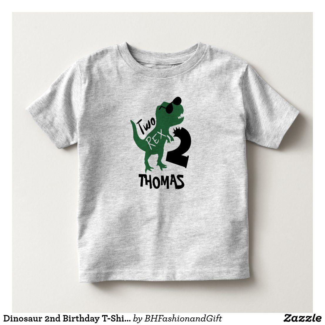Dinosaur 2nd Birthday TShirt Two Rex TShirt Zazzle