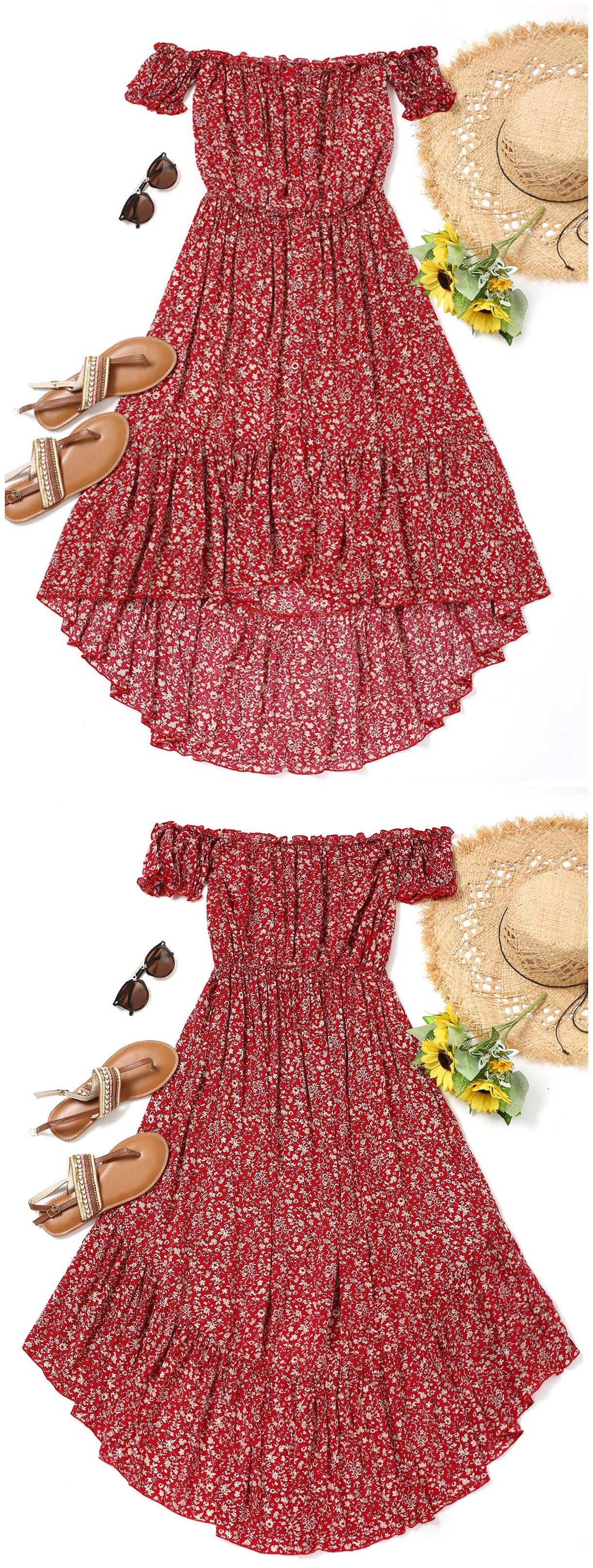 Up to 80% OFF! Tiny Floral High Low Dress. #Zaful #Dress Zaful,zaful outfits,zaful dresses,spring outfits,summer dresses,Valentine's Day,valentines day ideas,valentines outfits,cute,casual,classy,fashion,style,dress,long dress,maxi dress,mini dress,long sleeve dress,flounced dress,vintage dress,casual dress,lace dress,boho dress, flower dresses,maxi dresses,evening dresses,floral dresses,long dress,party dress,bohemian dresses,floral dress @zaful Extra 10% OFF Code:ZF2017