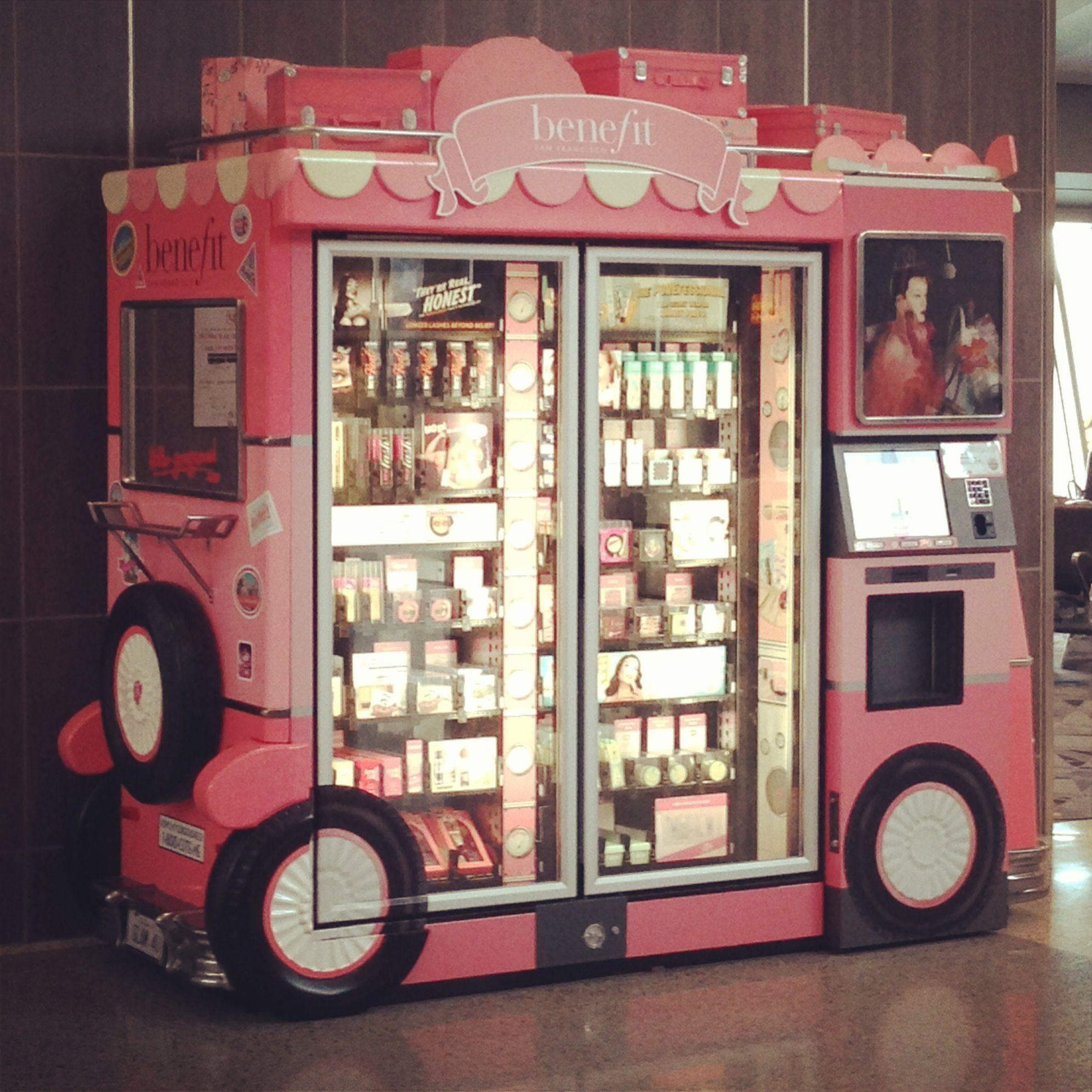 Benefit Cosmetics vending machine at Las Vegas airport