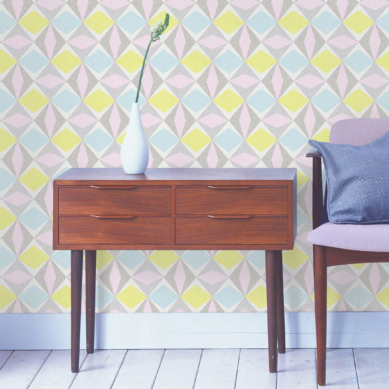 papier peint vinyle sur intiss losange larg m leroy merlin with le roy merlin papier peint. Black Bedroom Furniture Sets. Home Design Ideas
