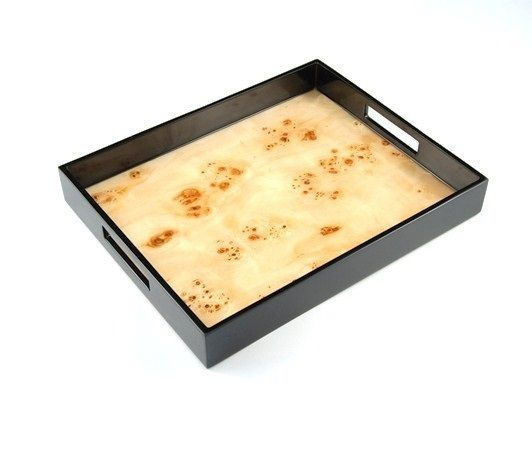 Wooden Decorative Trays Fascinating Instyledecor Gift Boxed Luxury Mappa Wooden Tray $145 Mappa Inspiration Design
