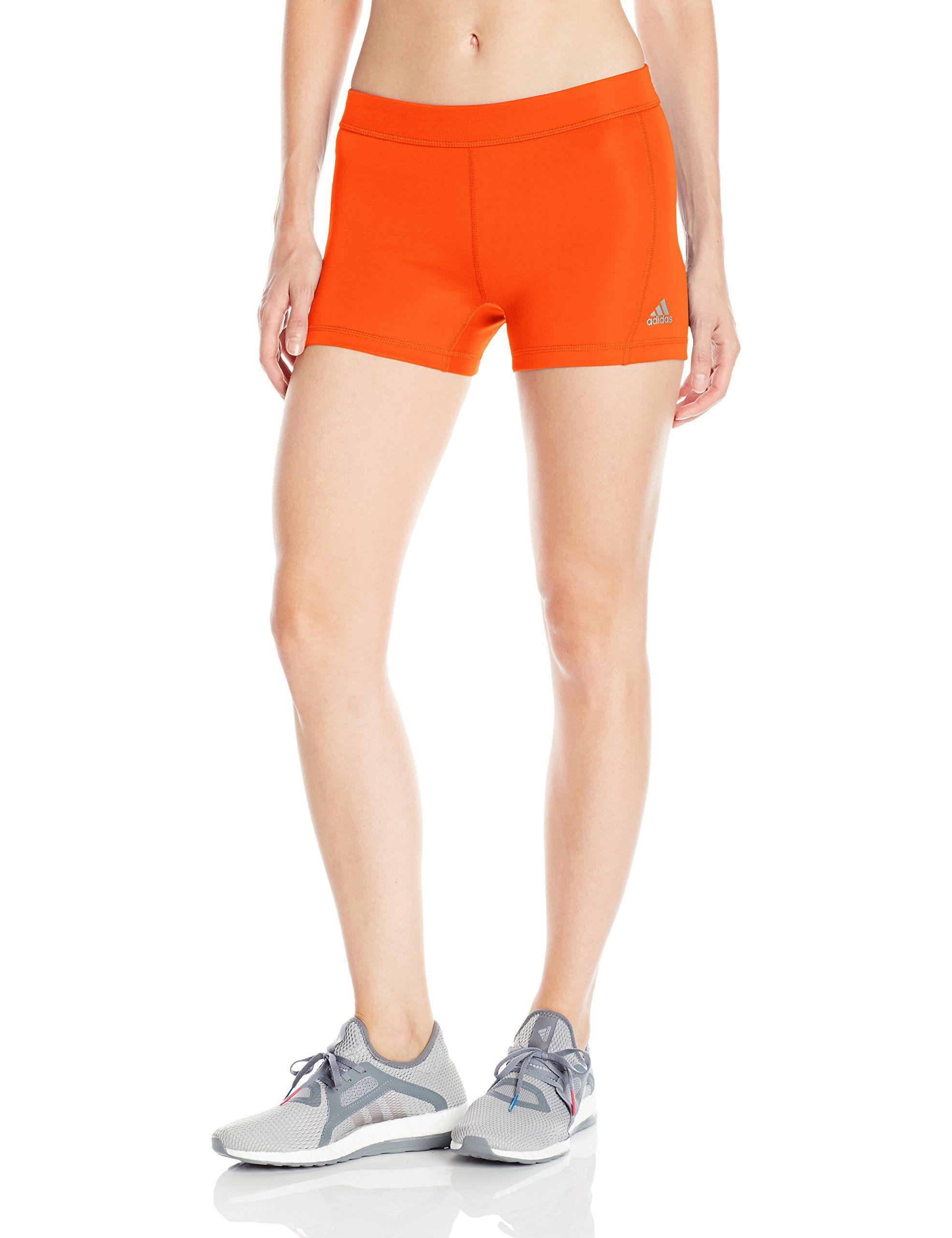 aba45f592e031 adidas Women's Training Techfit Short Tights, Energy Orange/Silver, X-Large.
